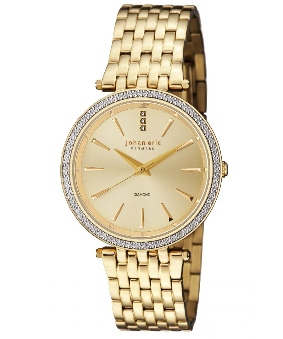 Image for Johan Eric Womens Fredericia JE-F1000-02-002B Stainless Steel Gold Watch