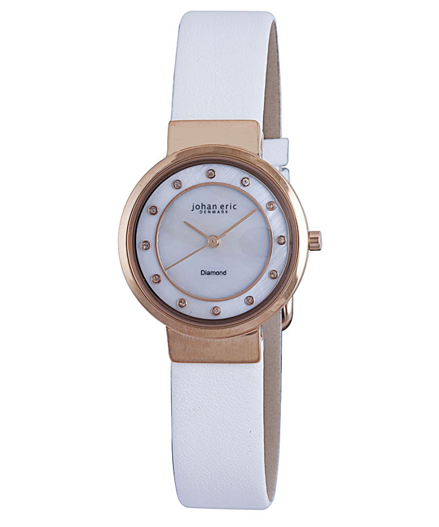 Image for Johan Eric Women's JE6100-09-009L Arhus Diamond Rose Gold Ion-Plated Coated Stainless Steel Watch