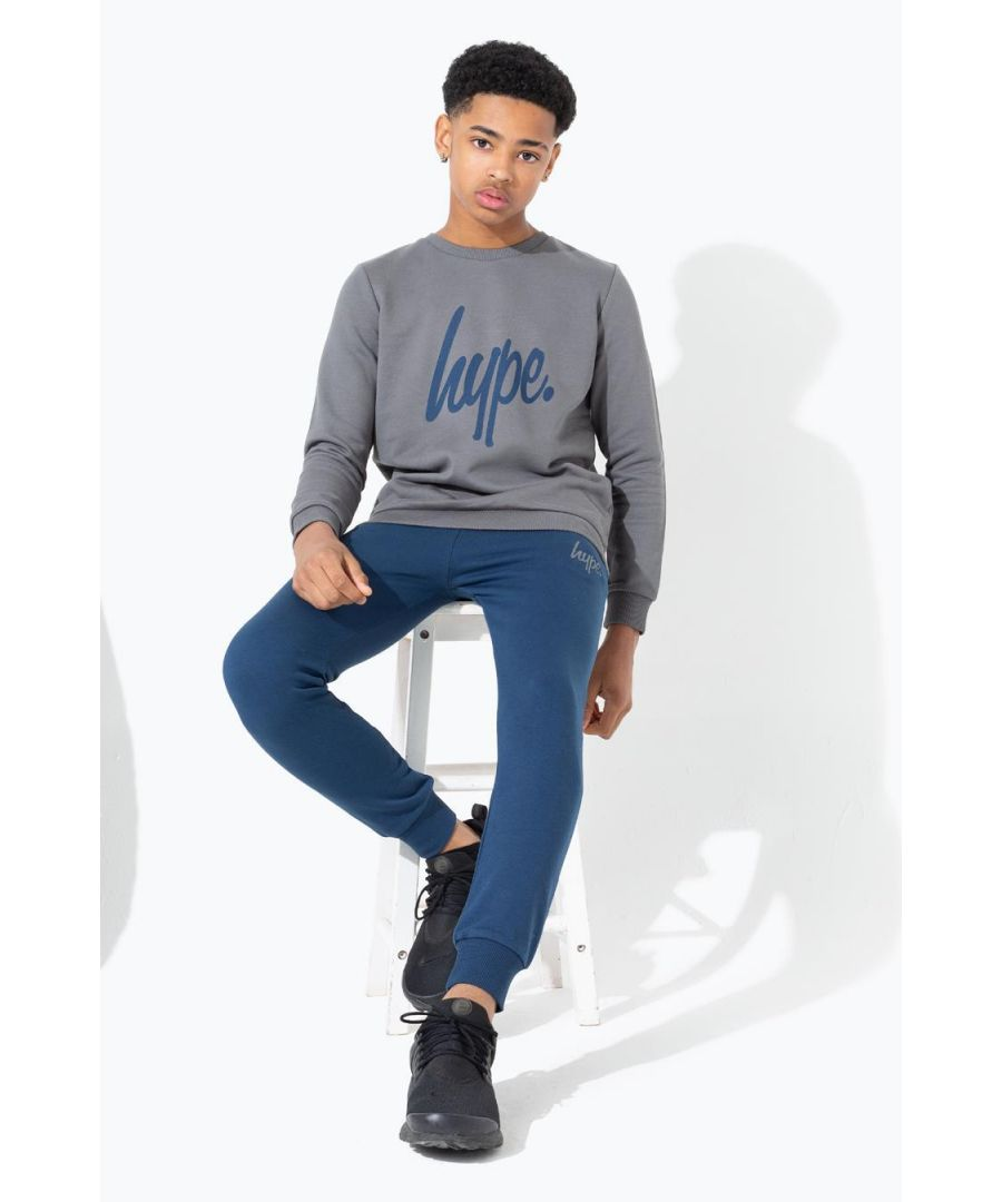 Image for Hype Charcoal Sweatshirt & Navy Jogger Kids Set