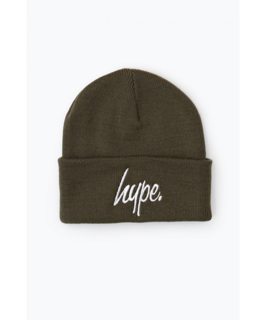 Image for Hype Olive Script Beanie