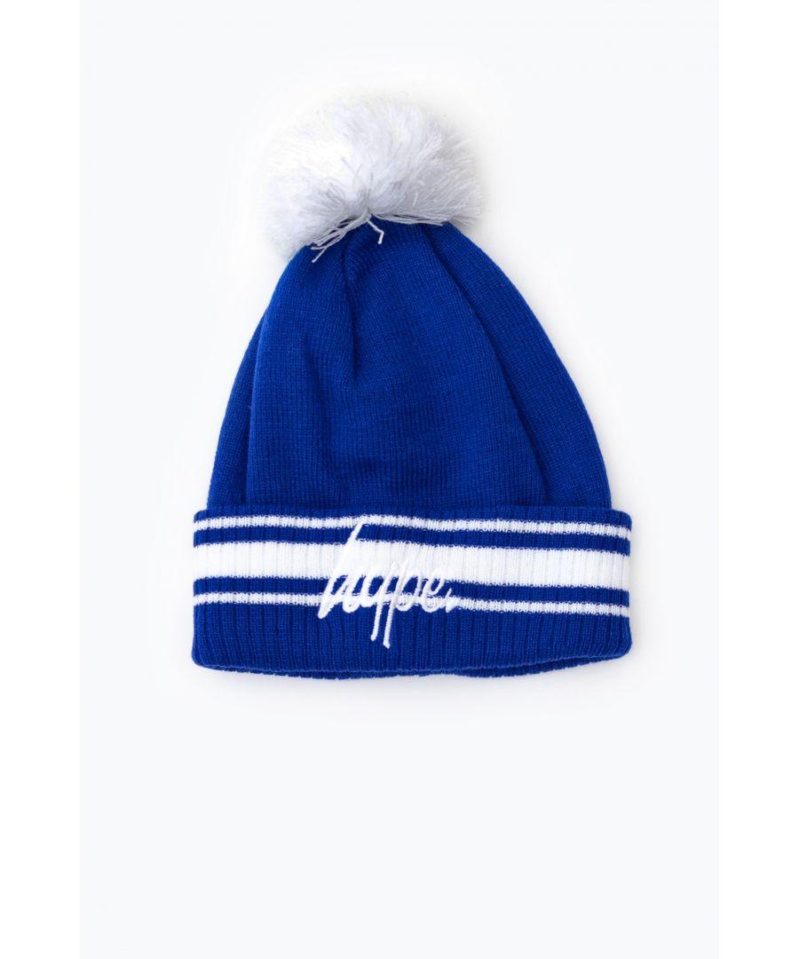 Image for Hype Blue Stadium Bobble Beanie