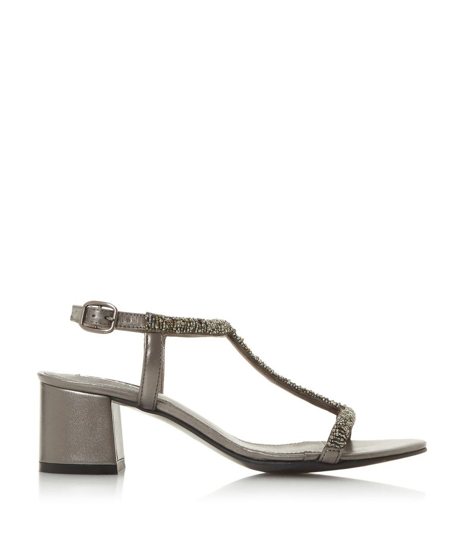 Image for Dune Ladies JOELLE Embellished Block Heel Sandal