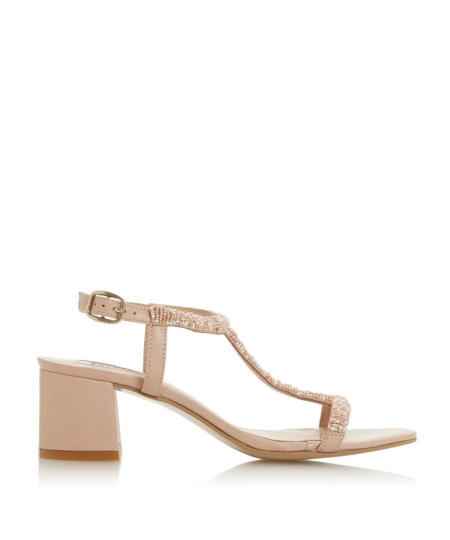 Image for Dune Ladies JOELLE Embellished Block Heel Sandals