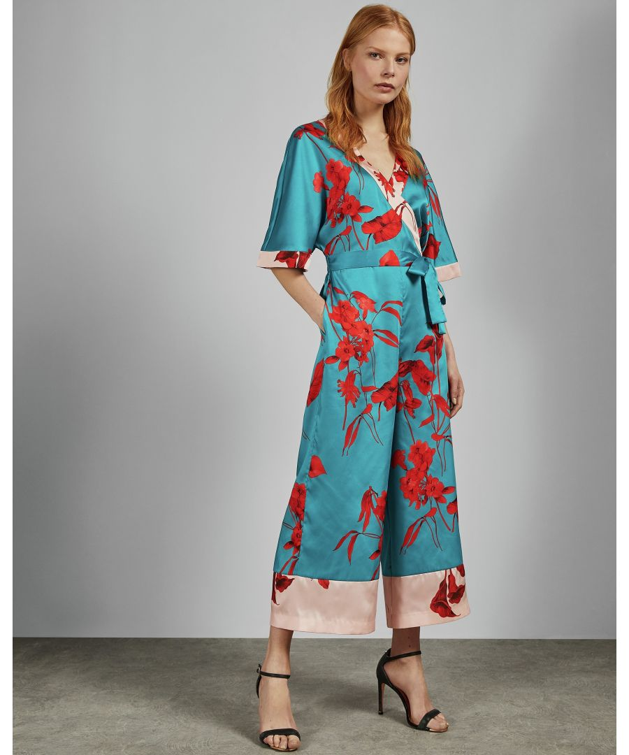Image for Ted Baker Jowsey Fantasia Wrap Jumpsuit, Turquoise
