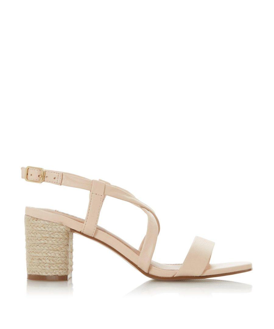 Image for Dune Ladies JUDE Cross Over Strap Espadrille Heel Sandals