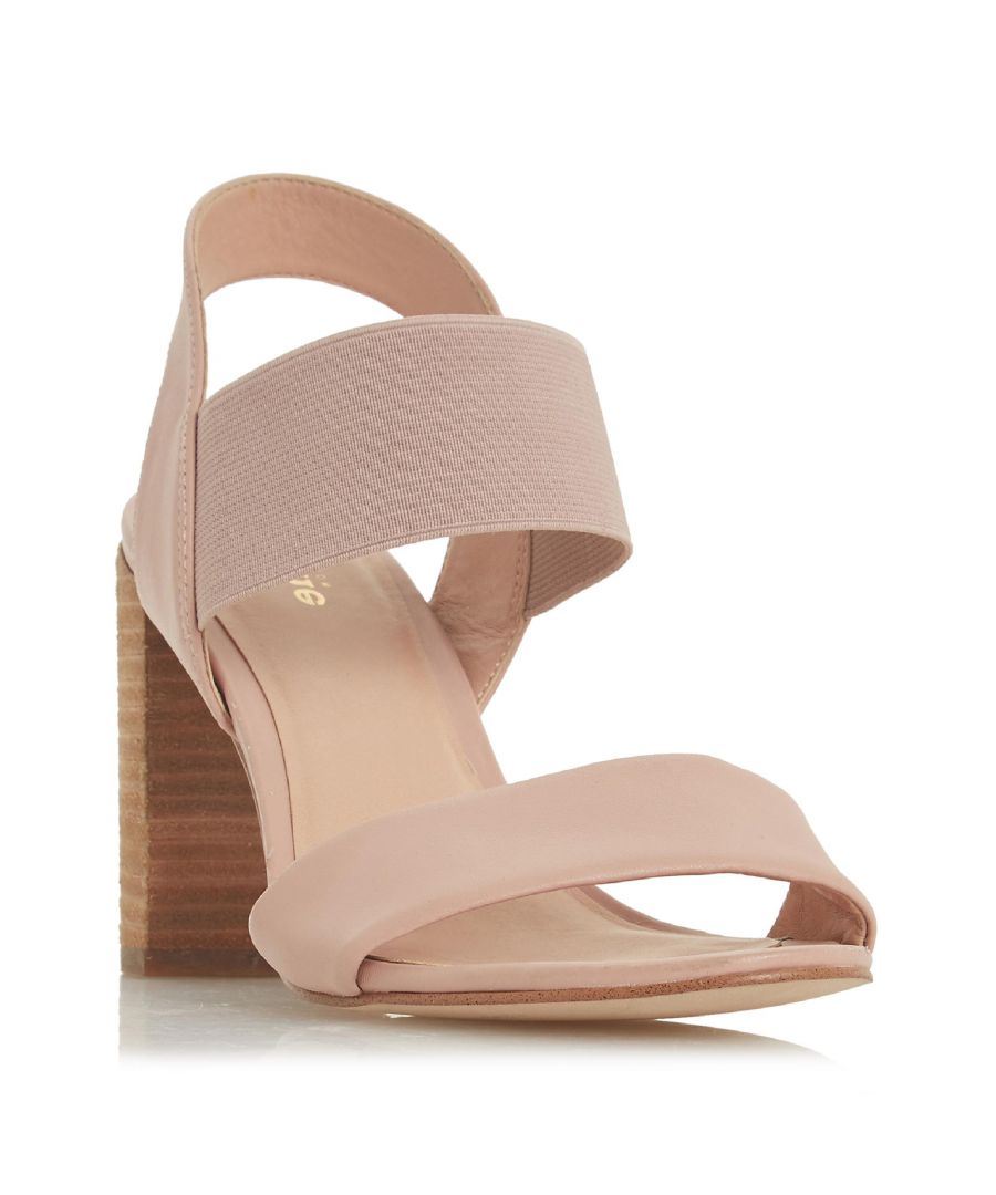 Image for Dune Ladies JUMPER Double Strap High Block Heel Sandal