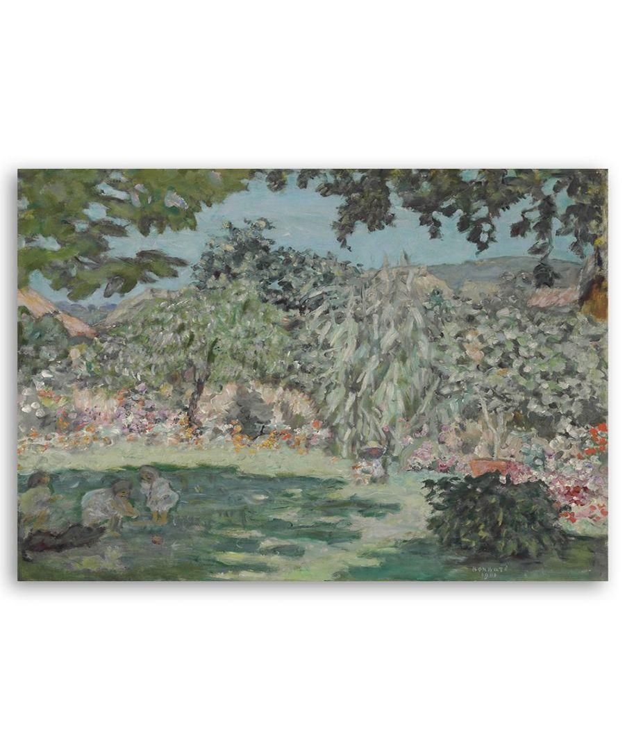 Image for Canvas Print - Jardin En Dauphine - Pierre Bonnard Cm. 50x60