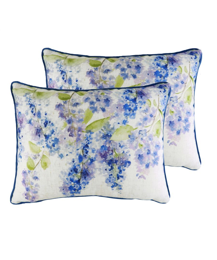 Image for Blossoms Lilac Cushions (Twin Pack)