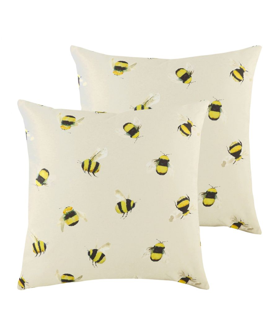 Image for Busy Bees Cushions (Twin Pack)