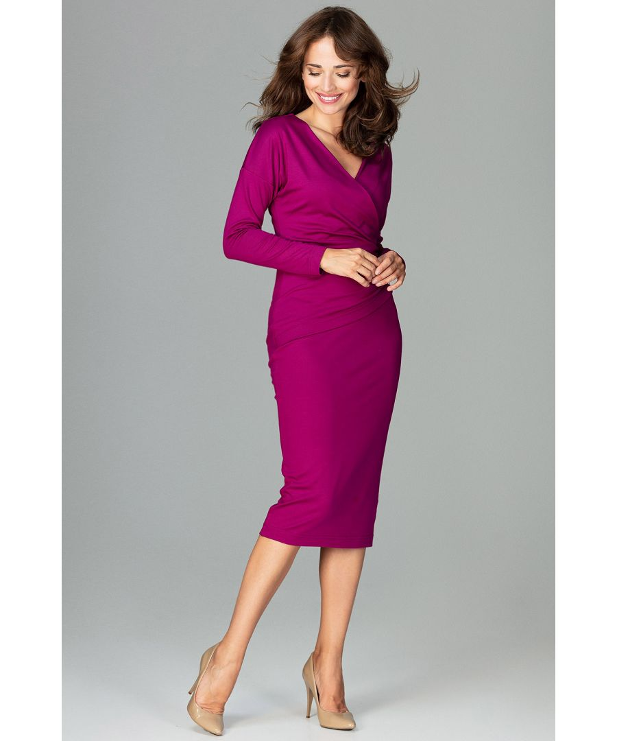 Image for Wrap Dress With Long Sleeves