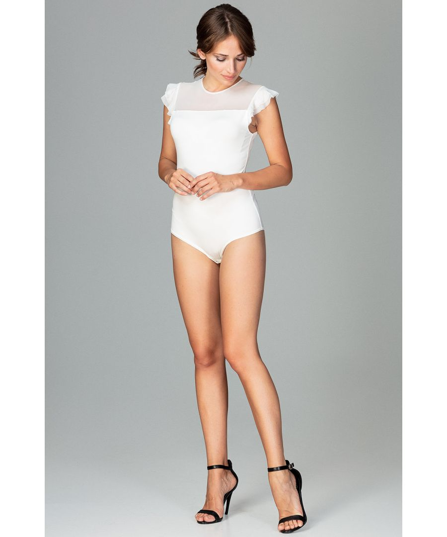 Image for Ecru Bodysuit With Short Sleeves