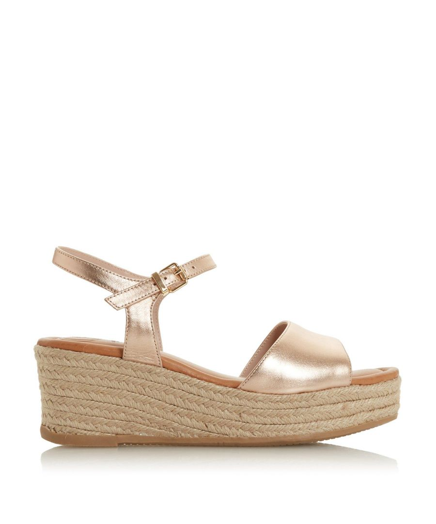 Image for Dune Ladies KADI Espadrille Flatform Wedge Sandals