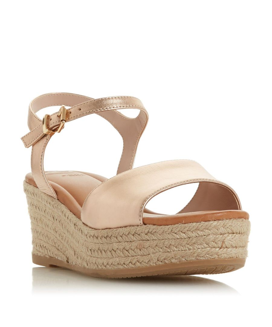 Image for Dune Ladies KADI Espadrille Flatform Wedge Sandal