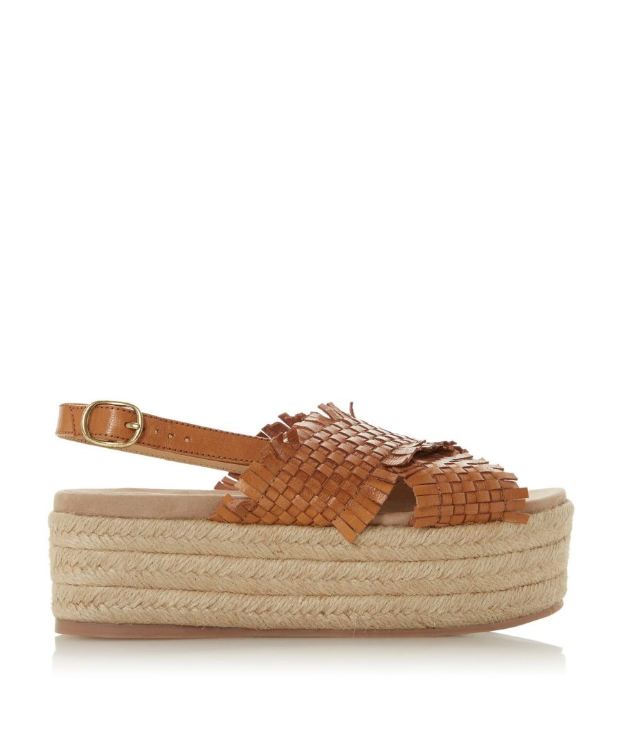 Image for Bertie Ladies KALETTE Woven Flatform Espadrille Sandals