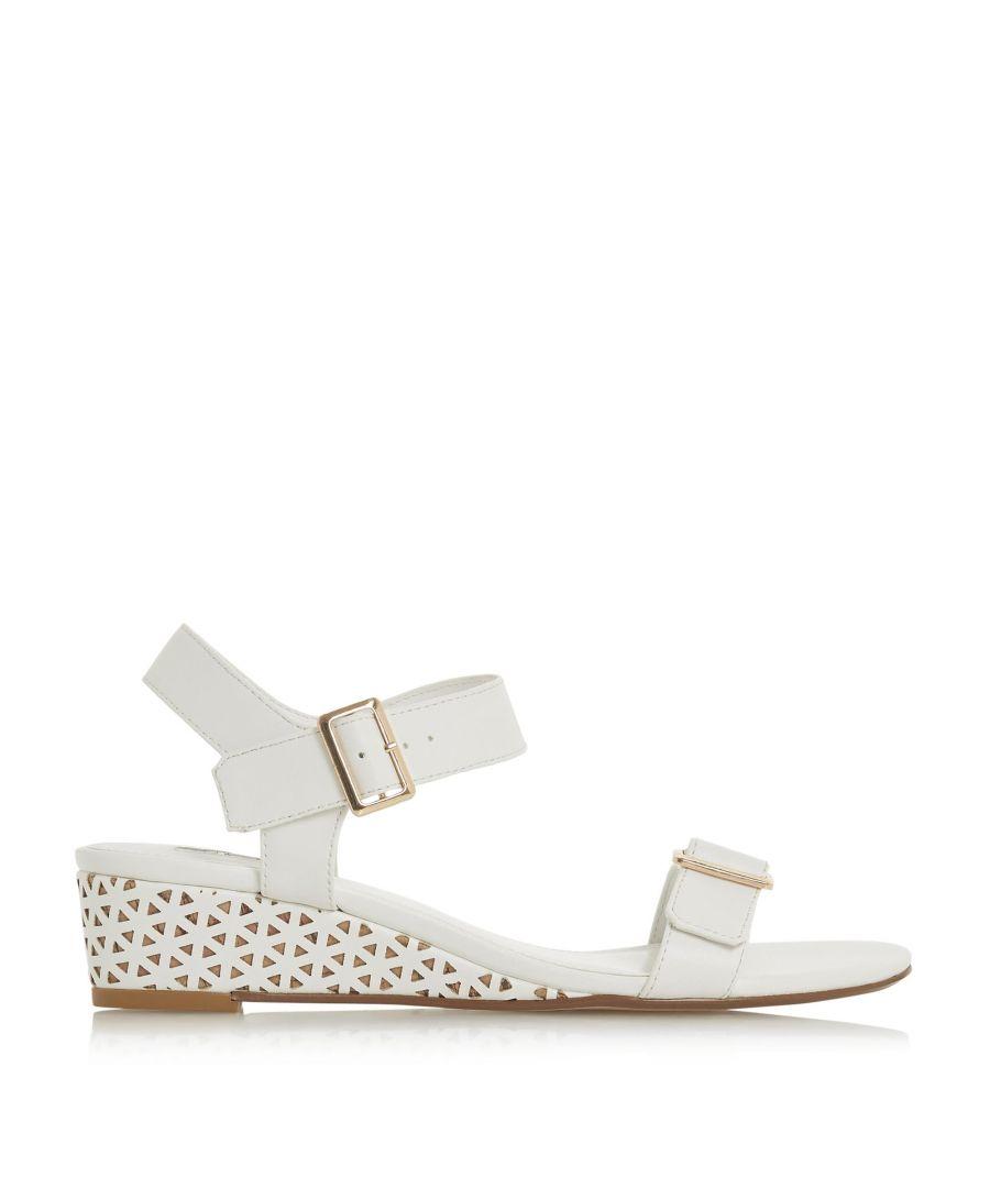 Image for Dune Ladies KARINAA Mid Wedge Heel Double Buckle Sandals