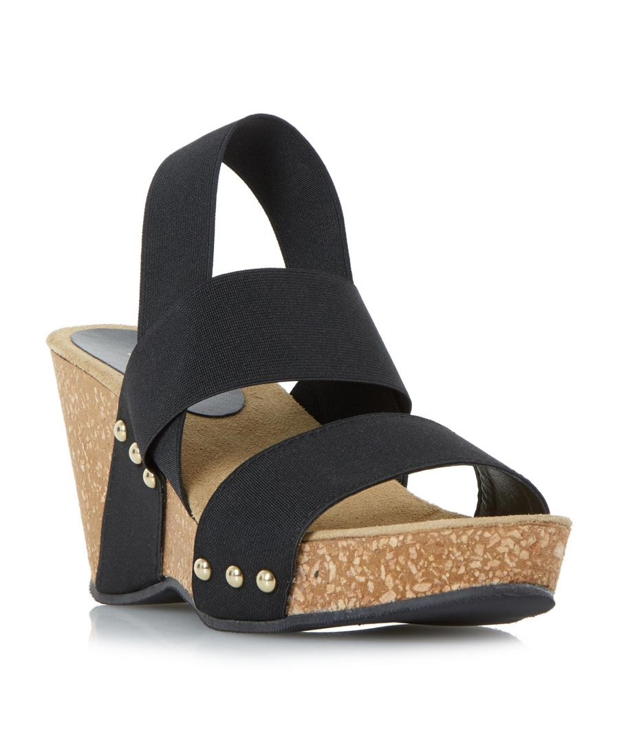 Image for Dune Ladies KASSII Cork Wedge Studded Mule Sandal