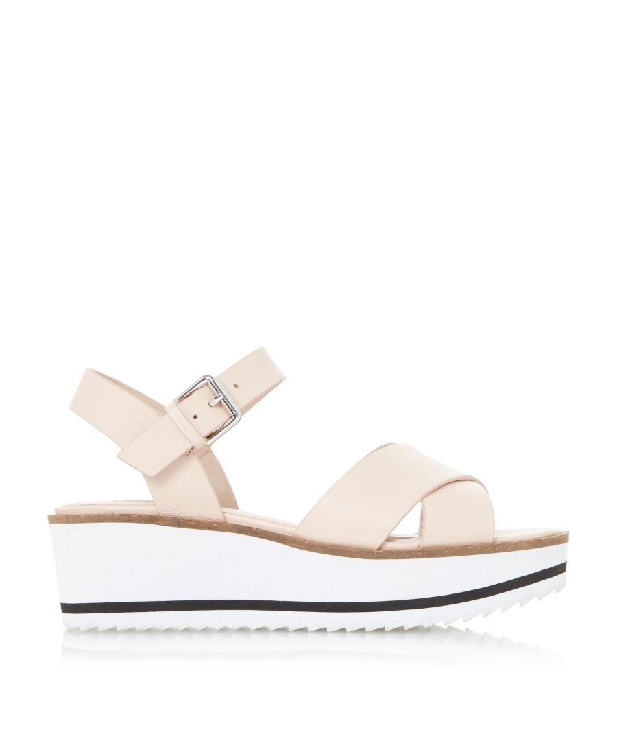 Image for Dune Ladies KASSIUS White Eva Shark Sole  Flatform Sandal