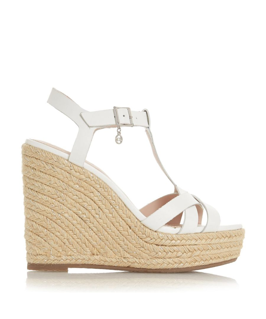 Image for Dune Ladies KAYLAA T Bar Cross Vamp Espadrille Wedge Sandal