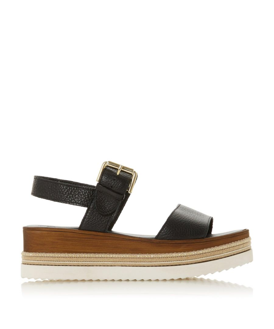 Image for Dune Ladies KAZE Leather Flatform Sandals