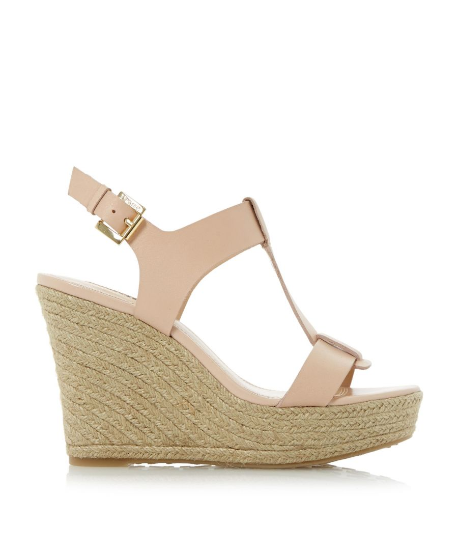 Image for Dune Ladies KELBY T-Bar Espadrille Wedge Sandals