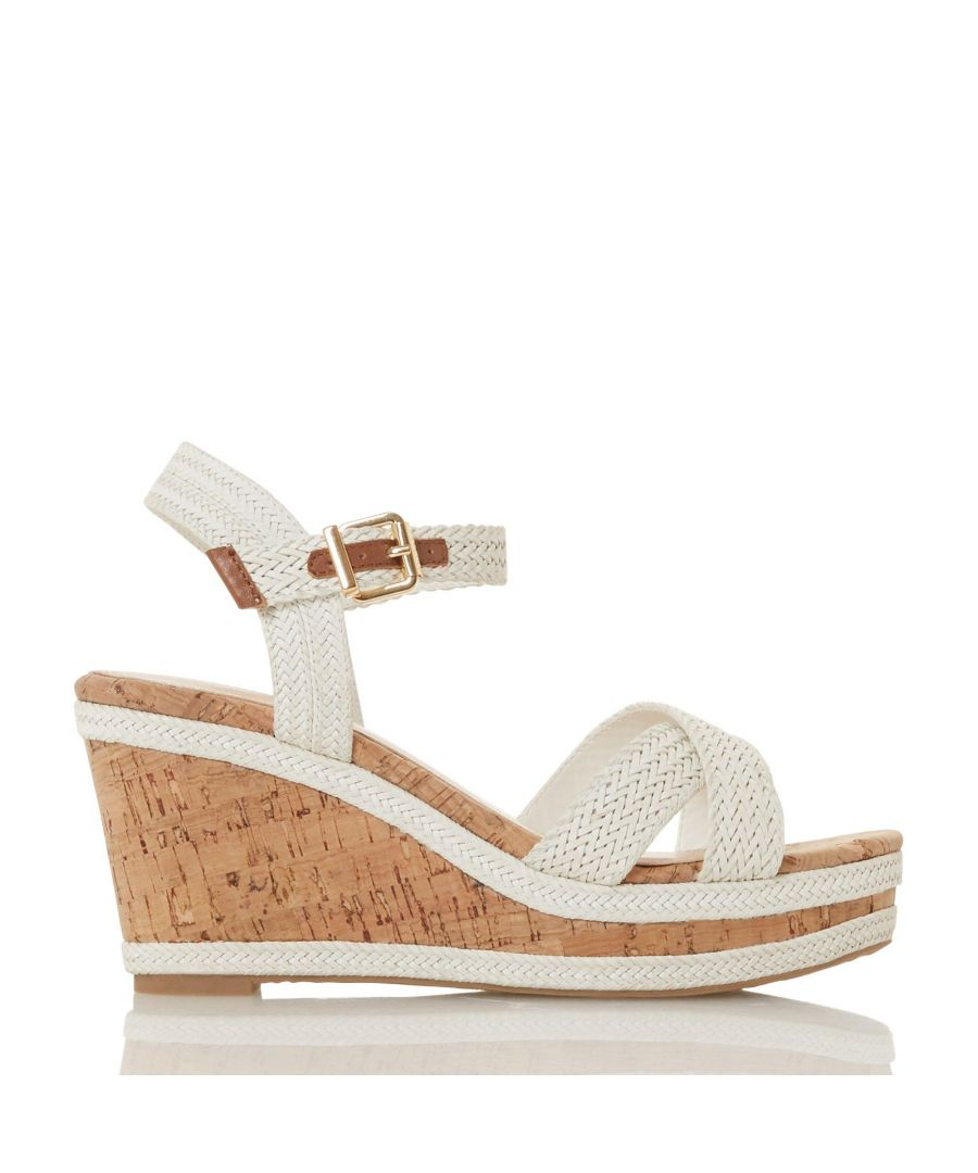 Image for Dune Ladies KELISA Braided Upper High Wedge Heel Sandals