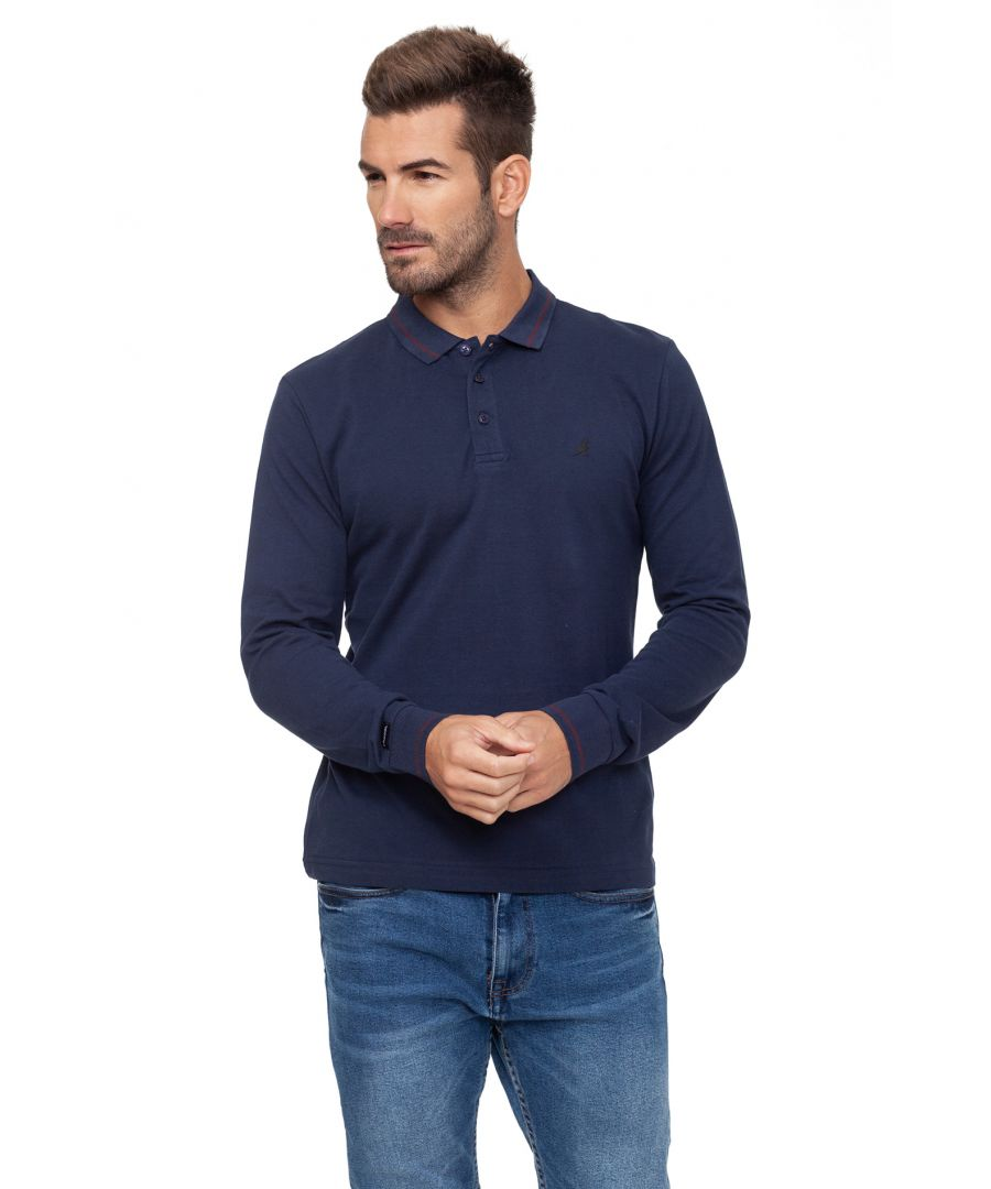 Image for Dent Long Sleeve Polo Shirt