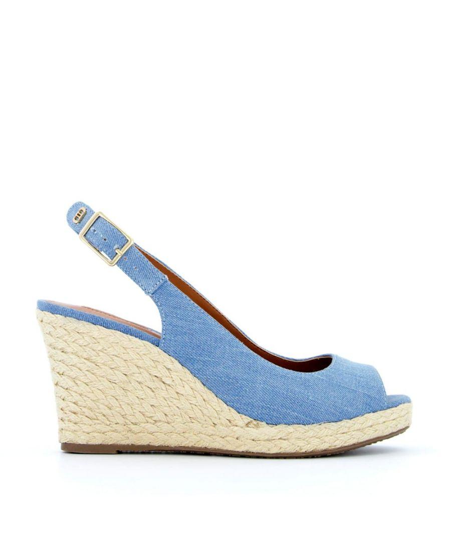 Image for Dune Ladies KICKA Slingback Espadrille Wedge Sandals