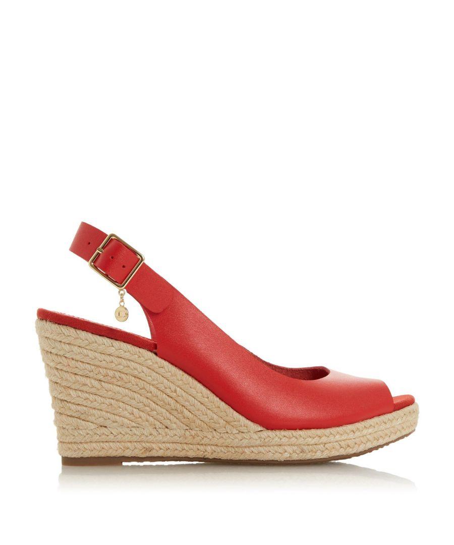 Image for Dune Ladies KICKS Espadrille Wedge Heel Sandals