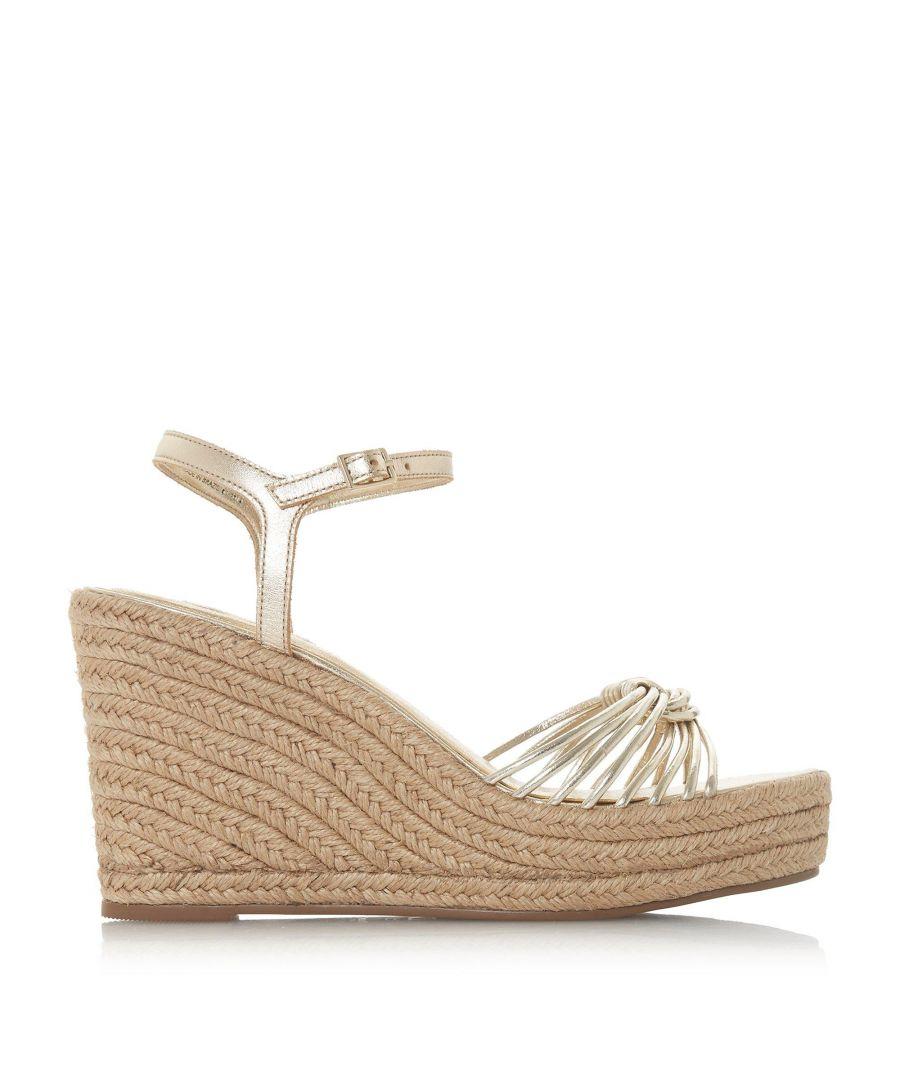 Image for Dune Ladies KIKII Knot Detail Wedge Sandals