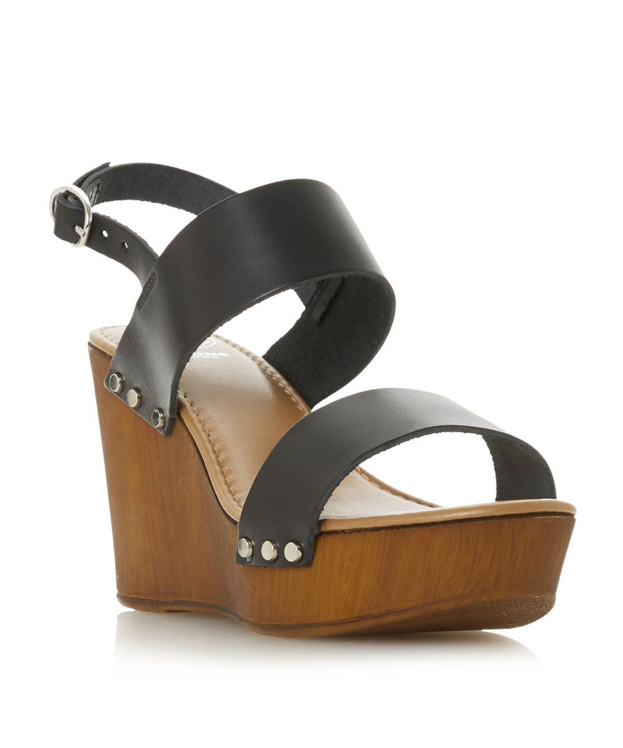 Image for Dune Ladies KIMMEY Wooden Platform Wedge Sandal