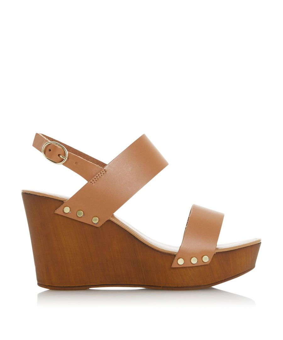 Image for Dune Ladies KIMMEY Wooden Platform Wedge Sandal
