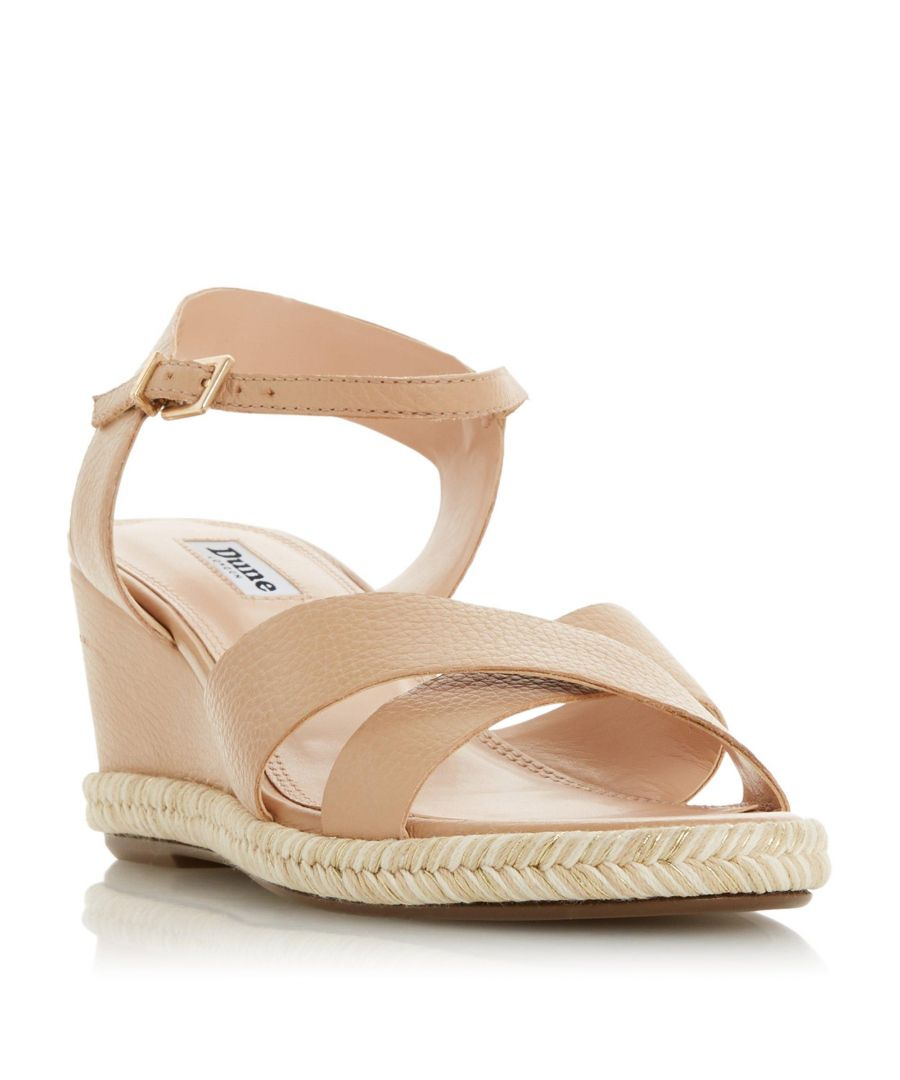 Image for Dune Ladies KIWII Espadrille Trim Wedge Heel Sandal