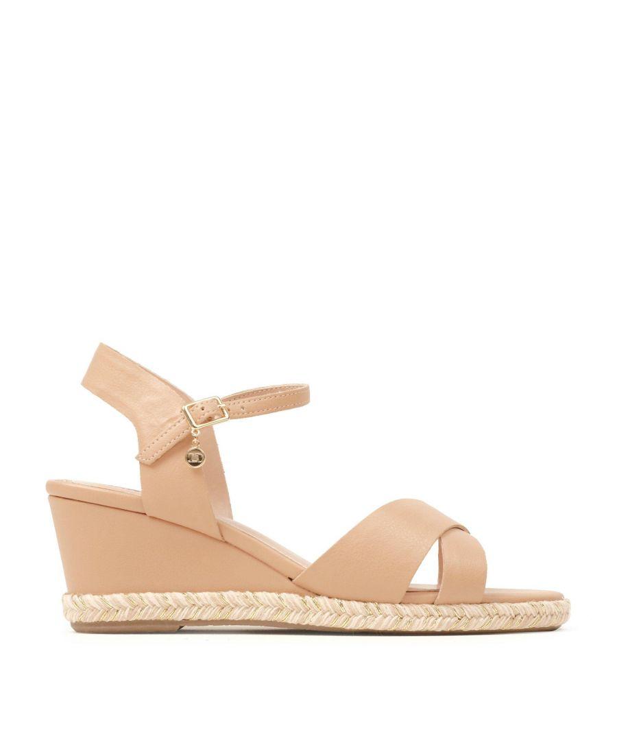 Image for Dune Ladies KIWI XX Espadrille Trim Wedge Heel Sandals