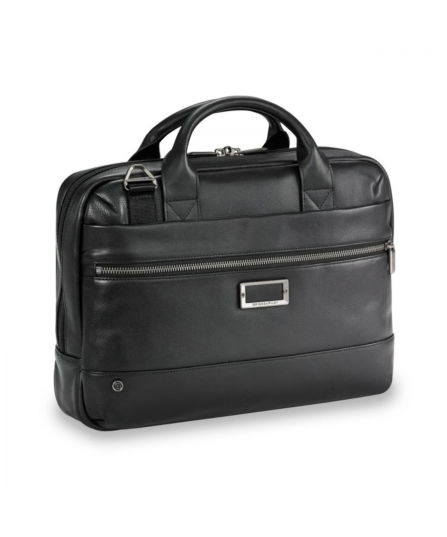 Image for @work Leather Slim Brief