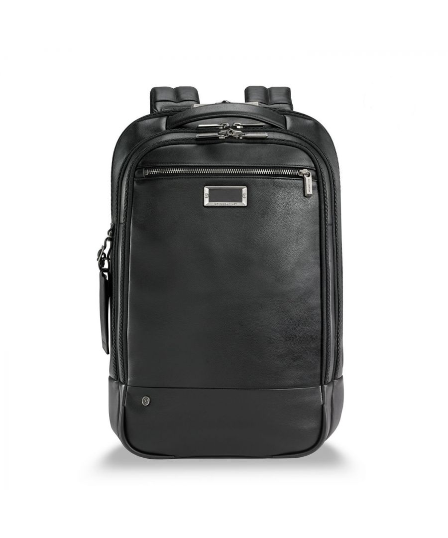 Image for @work Leather Medium Backpack