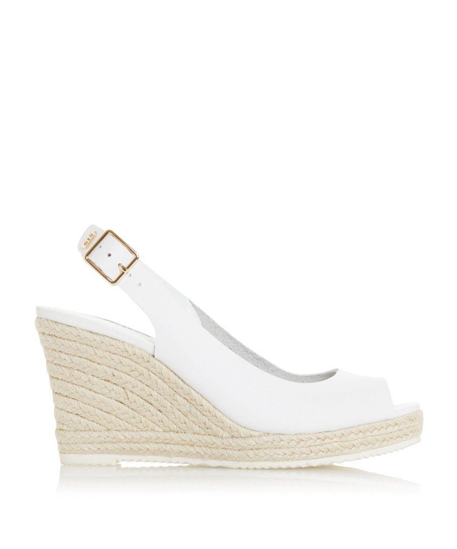 Image for Dune Ladies KNOX 2 Slingback Espadrille Wedge Heel Sandals
