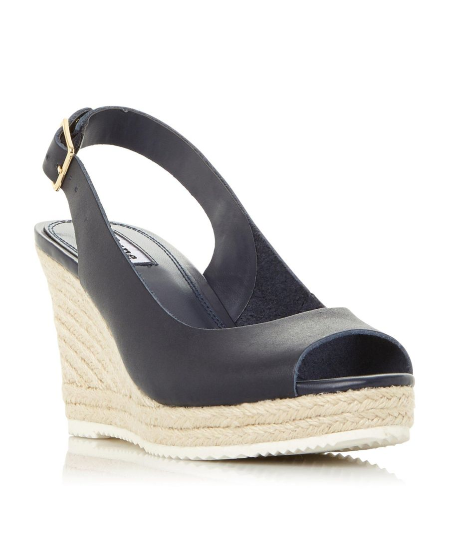 Image for Dune Ladies KNOX 2 Slingback Espadrille Wedge Heel Sandal