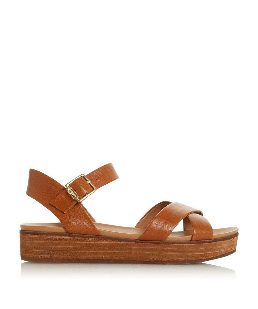 Image for Dune Ladies KOBY Cross Strap Flatform Sandals