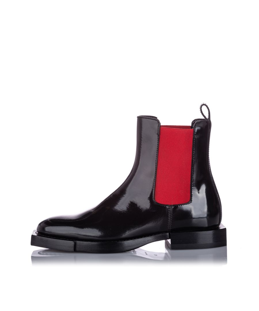 Image for Alexander McQueen Hybrid Chelsea Leather Boot Black
