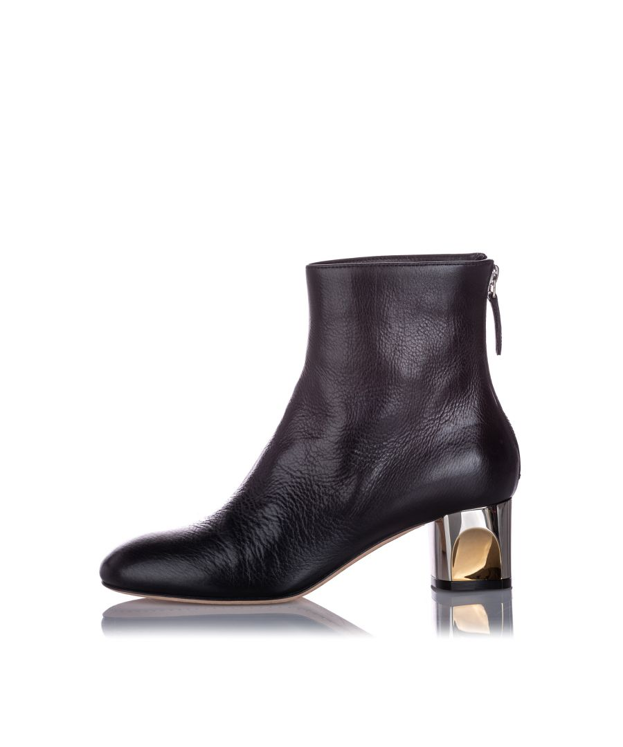 Image for Alexander McQueen Ankle Leather Boot Black