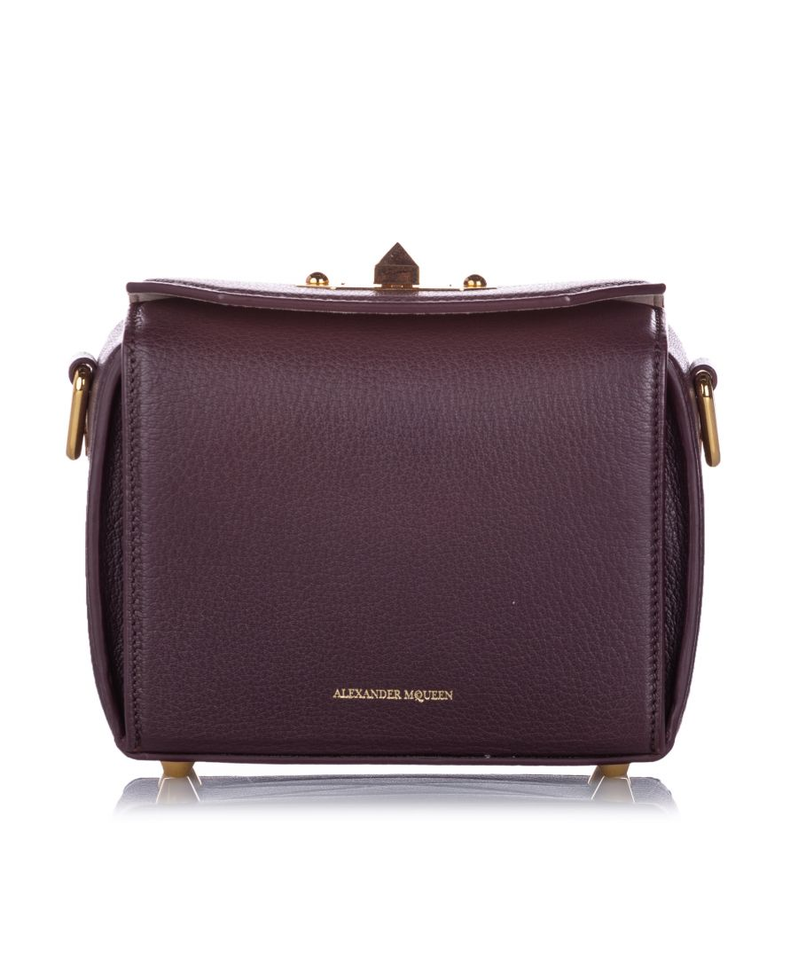 Image for Vintage Alexander McQueen Box 16 Leather Crossbody Bag Red