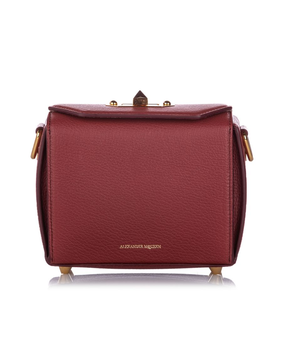 Image for Alexander McQueen Box 16 Leather Crossbody Bag Red