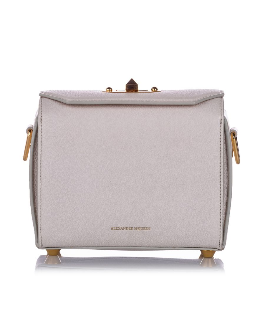 Image for Alexander McQueen Box 19 Leather Crossbody Bag White