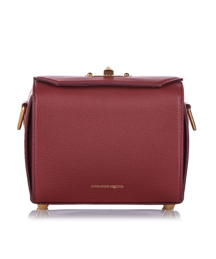 Image for Alexander McQueen Box 19 Leather Crossbody Bag Red