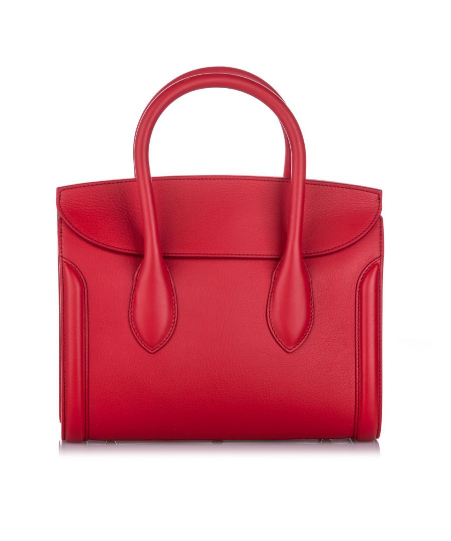 Image for Alexander McQueen Leather Heroine 30 Satchel Red