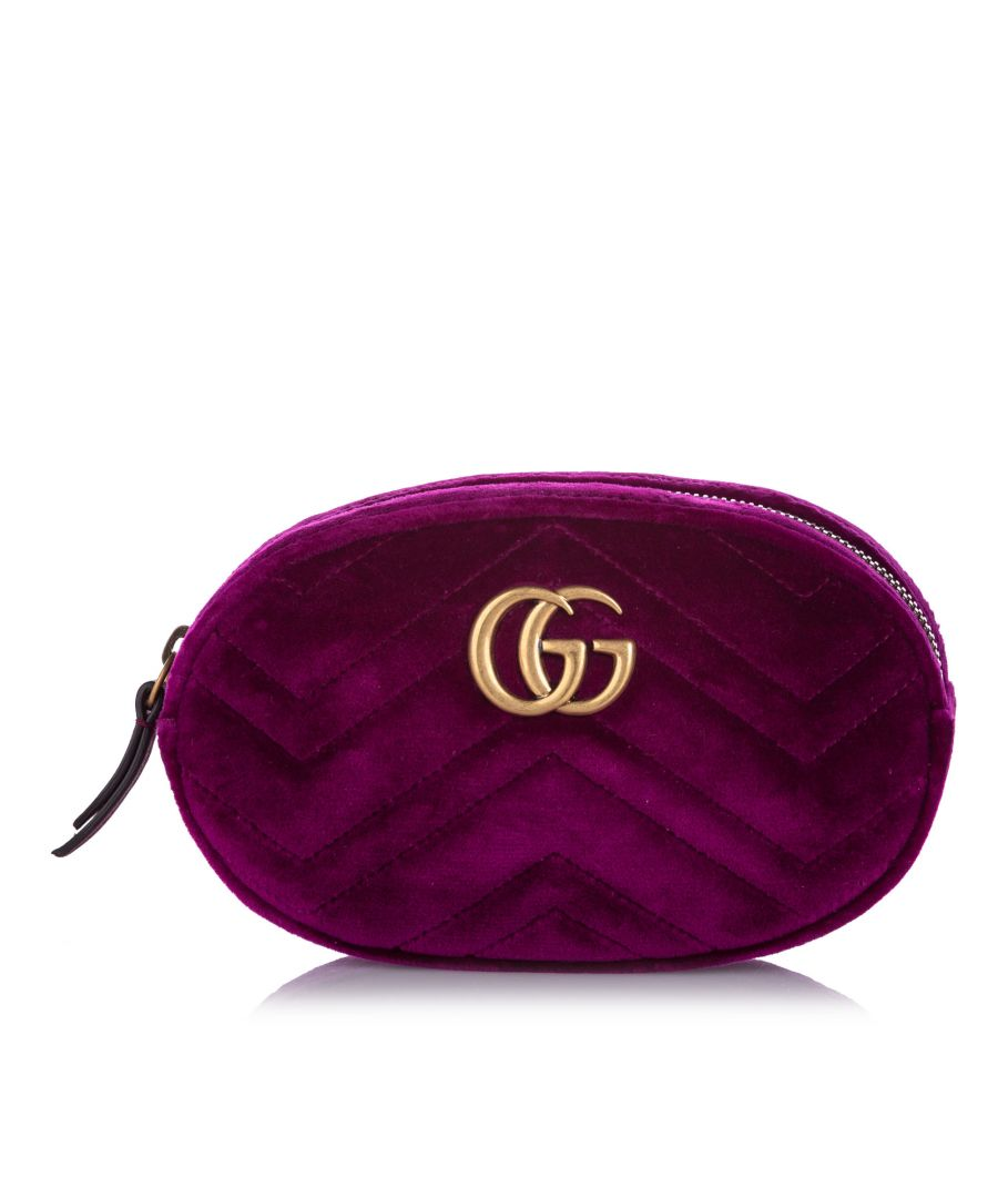 Image for Gucci GG Marmont Velvet Belt Bag Pink