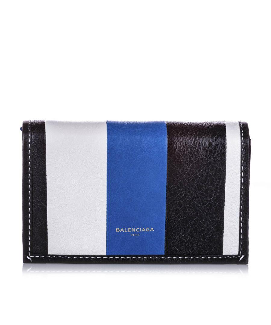 Image for Vintage Balenciaga Bazar Leather Chain Crossbody Bag Black