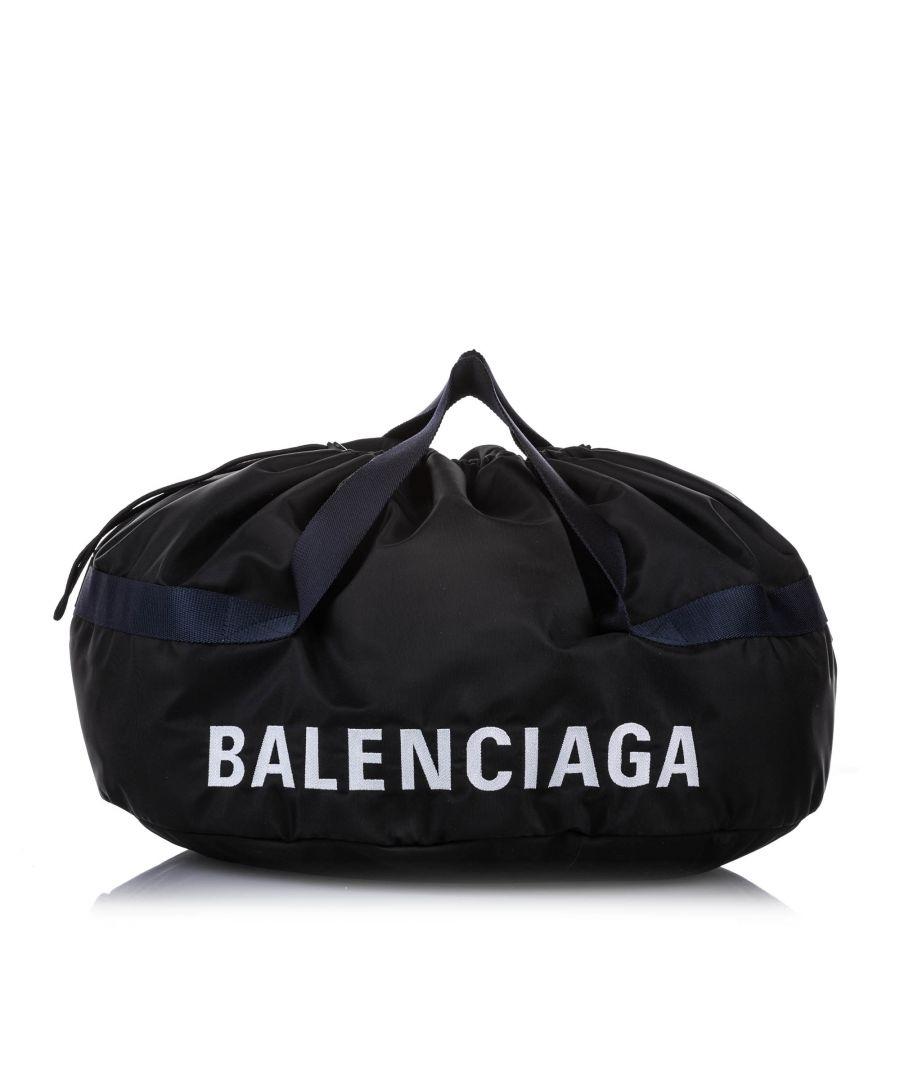 Image for Vintage Balenciaga S Wheel Everyday Nylon Travel Bag Black