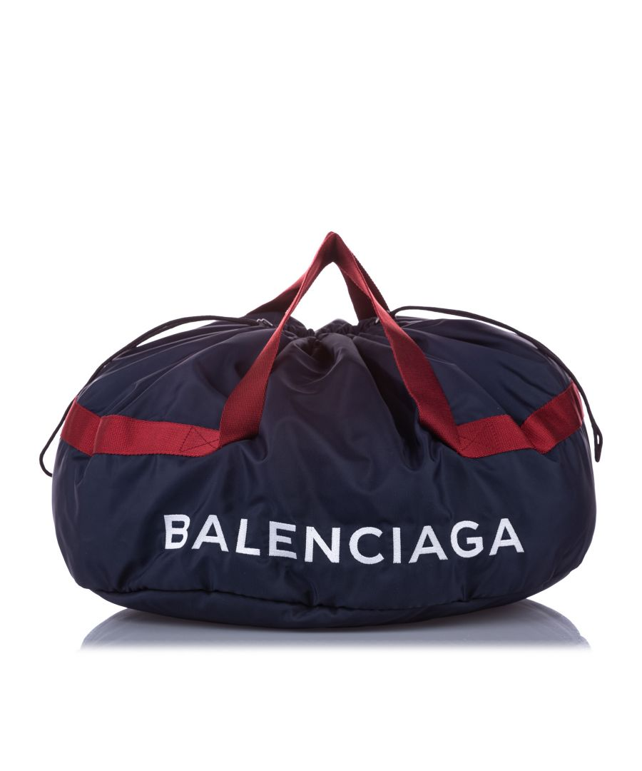 Image for Balenciaga S Wheel Everyday Nylon Travel Bag Black