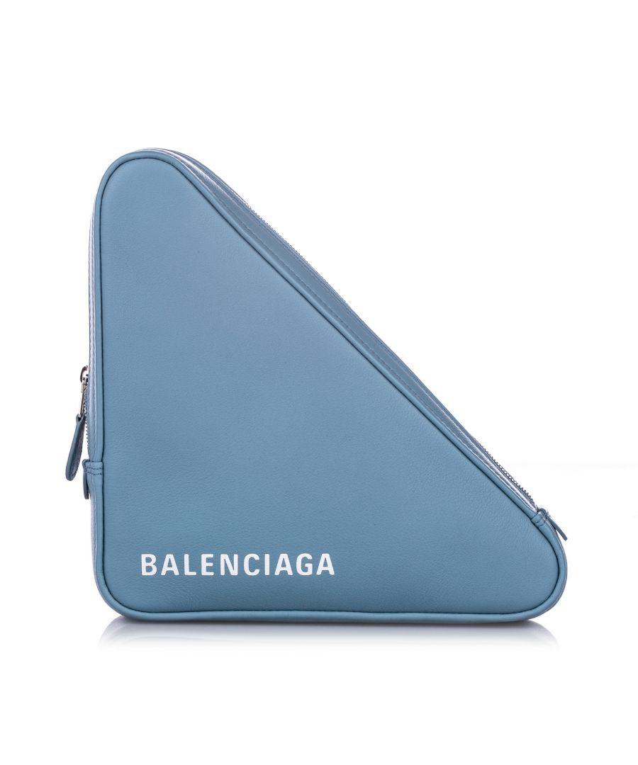 Image for Balenciaga M Triangle Leather Pochette